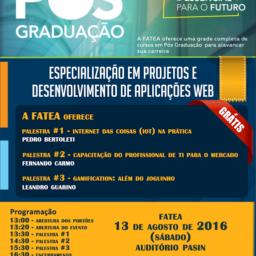 FATEA – Palestra para pós-graduação / especialização em desenvolvimento de aplicações Web (Lorena – SP)